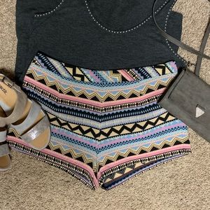Pants - Fashion on Earth Patterned Shorts